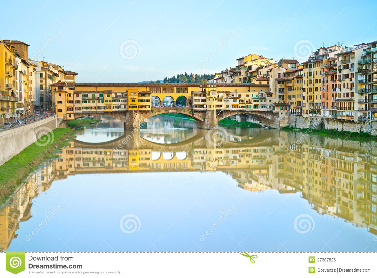 Ponte Vecchio, Old Bridge, In Florence. Italy Royalty Free Stock.