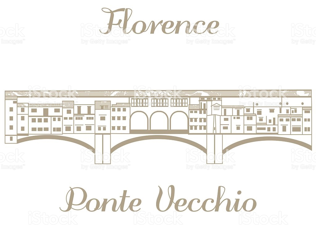 Vector Illustration Of Ponte Vecchio stock vector art 503048438.