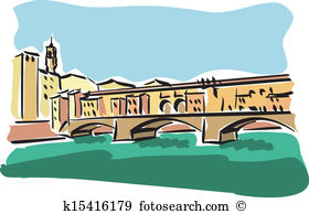 Ponte vecchio Clip Art Royalty Free. 6 ponte vecchio clipart.