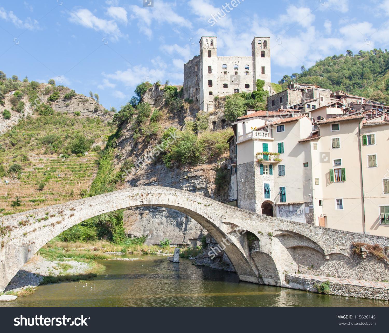 Italy, Liguria Region, Dolceacque Medieval Castle, Doria Family.
