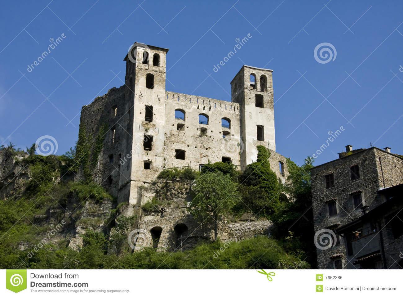 Dolceacqua Doria Castle Royalty Free Stock Image.