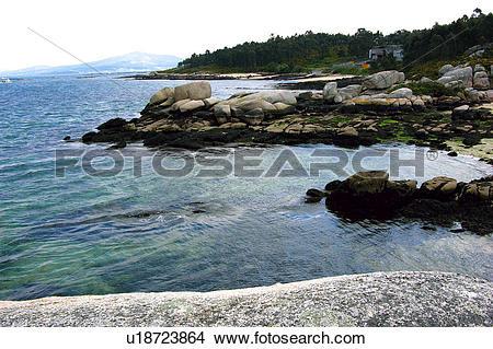 Stock Photo of Spain, Galicia, Pontevedra, Arousa, Island, Arousa.