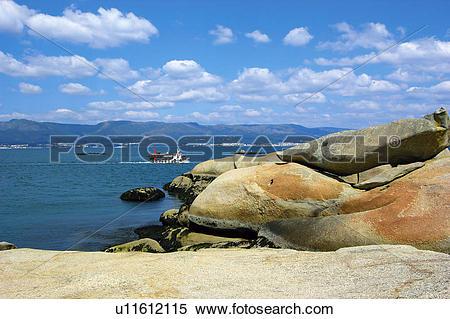 Stock Image of Spain, Galicia, Pontevedra, Arousa, Island, Arousa.
