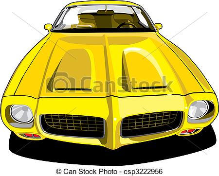 Clip Art Vector of Pontiac Firebird.