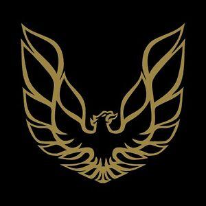 Details about Pontiac Firebird Trans Am decal sticker 10.5 x10.5 inch Gold  vinyl.