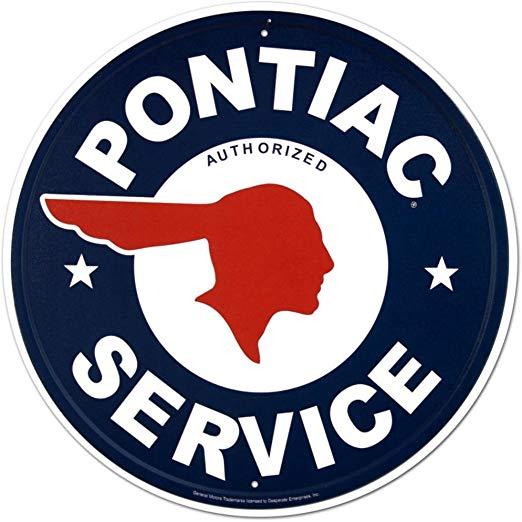 Pontiac Service Tin Sign 12 x 12in.