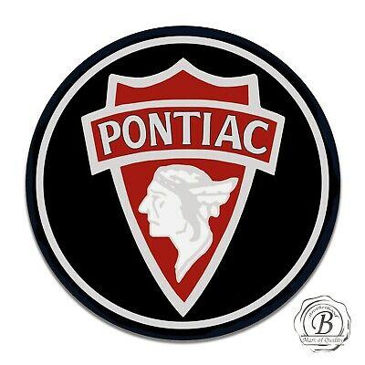 Vintage Pontiac Indian Design Reproduction Circle Aluminum Sign.