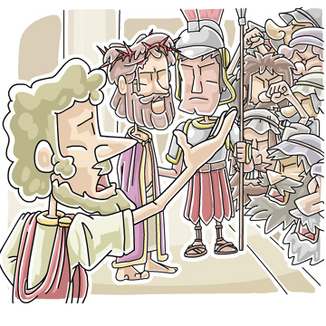 Christian clipArts.net _ Jesus before Pilate.