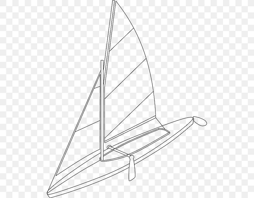 Sail Boat Pontoon Ship Clip Art, PNG, 517x640px, Sail, Black.