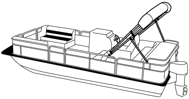Pontoon Boat Drawing.