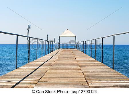 Stock Photo of Pontoon Bridge to the Sea.