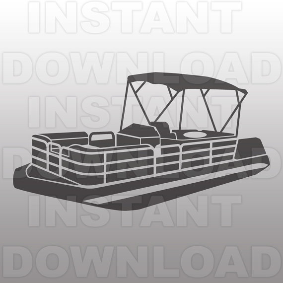 Pontoon boat clipart.