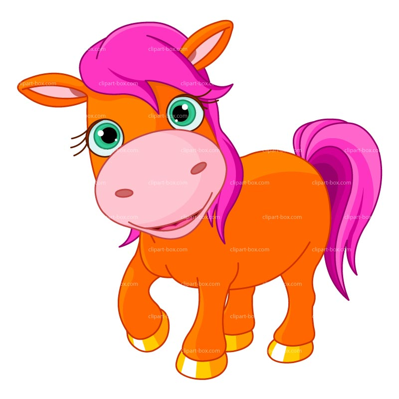 CLIPART ORANGE PONY.