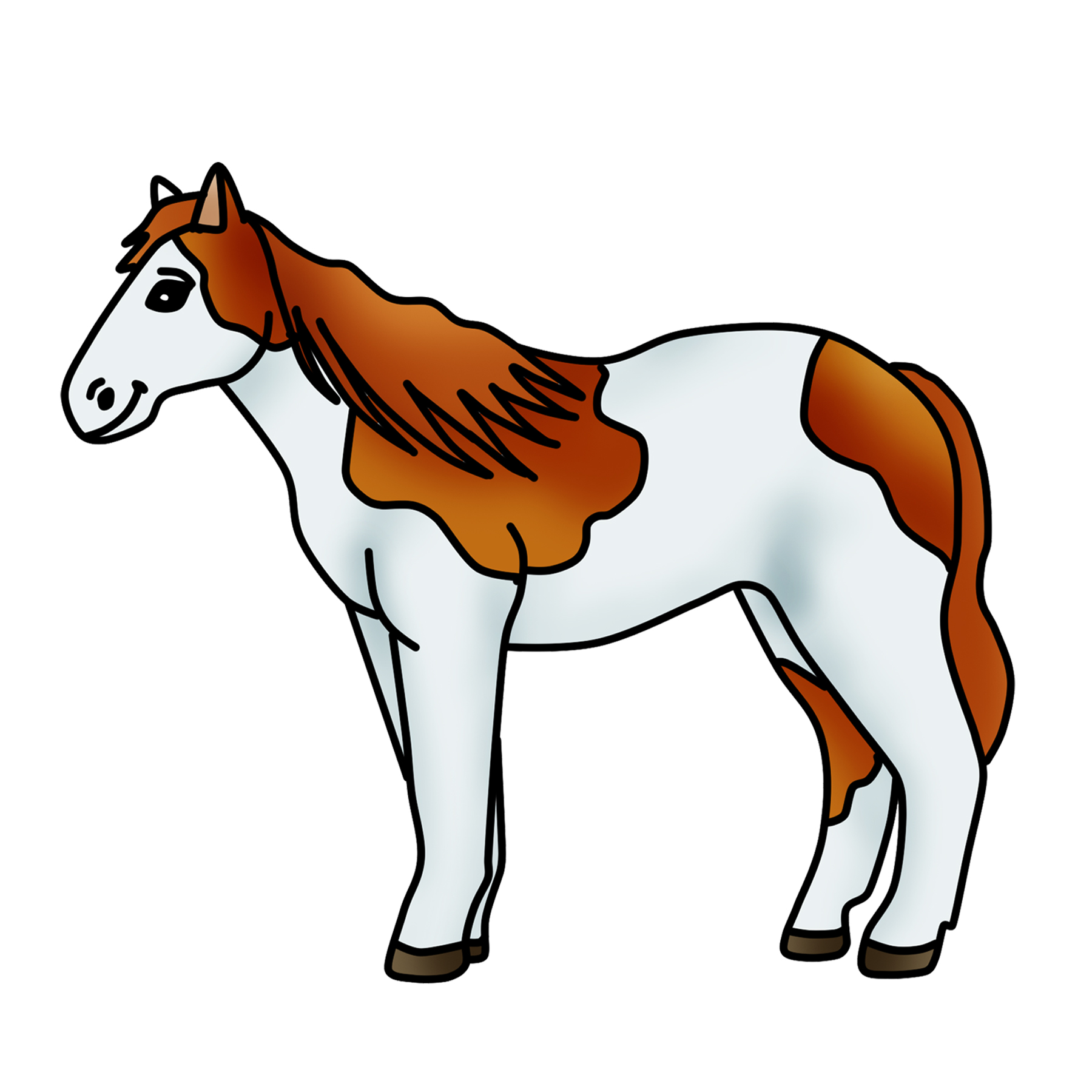 Spotted Horse Clipart Pony Graphic.