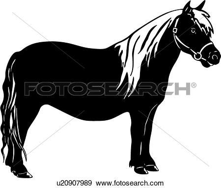 Clip Art of , animal, horse, pony, u20907989.