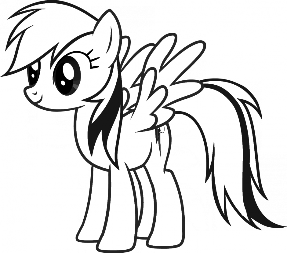 Pony clipart black and white 4 » Clipart Portal.