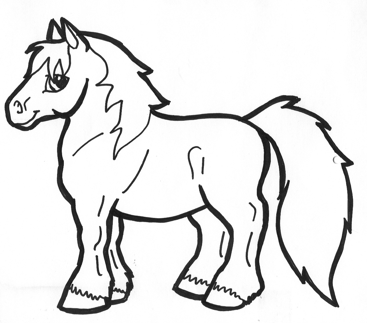 Pony clipart black and white 7 » Clipart Station.