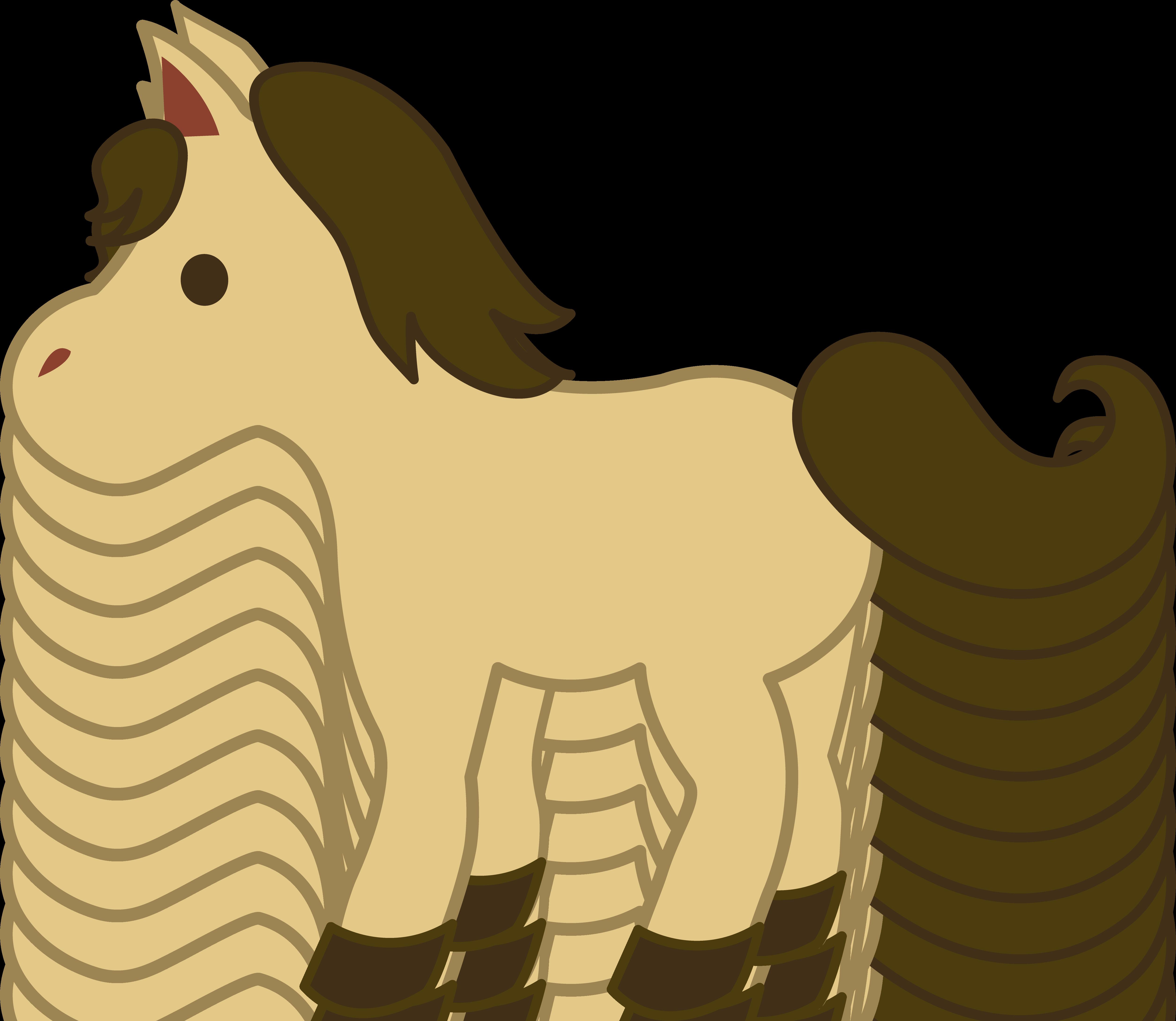 Pony clipart brown pony.