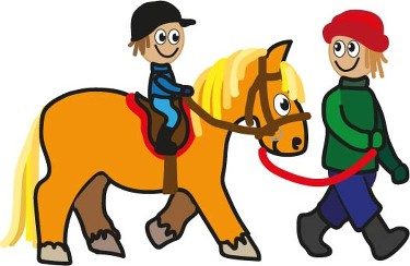 Riding clipart small horse.