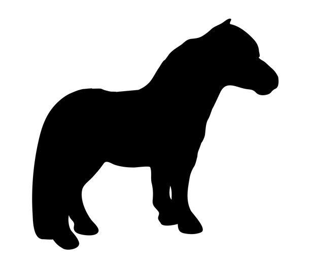 shetland pony silhouette.