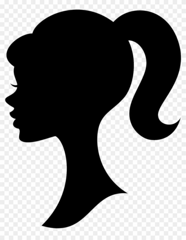 Ponytail Clipart Barbie Logo Silhouette Image Provided.