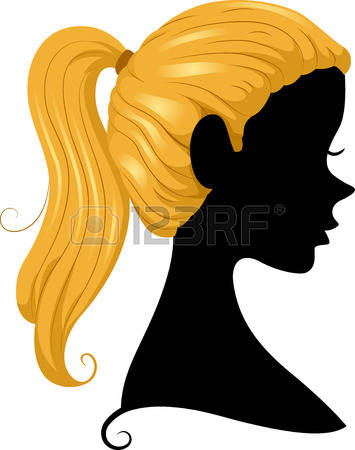 3,455 Ponytail Stock Illustrations, Cliparts And Royalty Free.