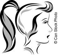 Ponytail Illustrations and Stock Art. 2,109 Ponytail illustration.