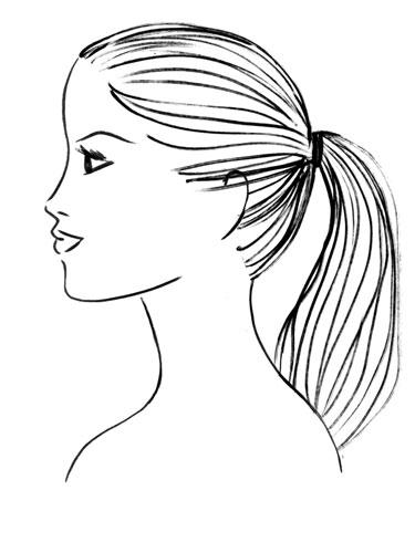 Ponytail hair clipart.