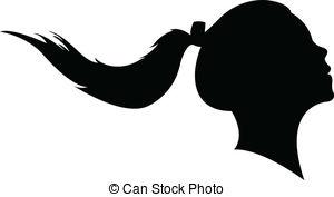 Ponytail clip art.