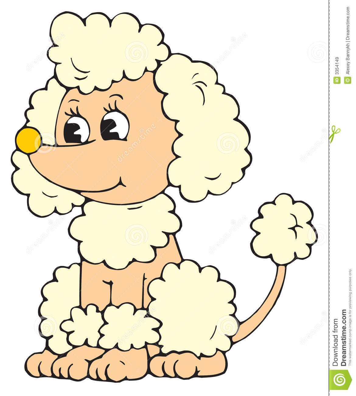 Poodle clipart vector.