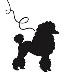 black outline poodle.