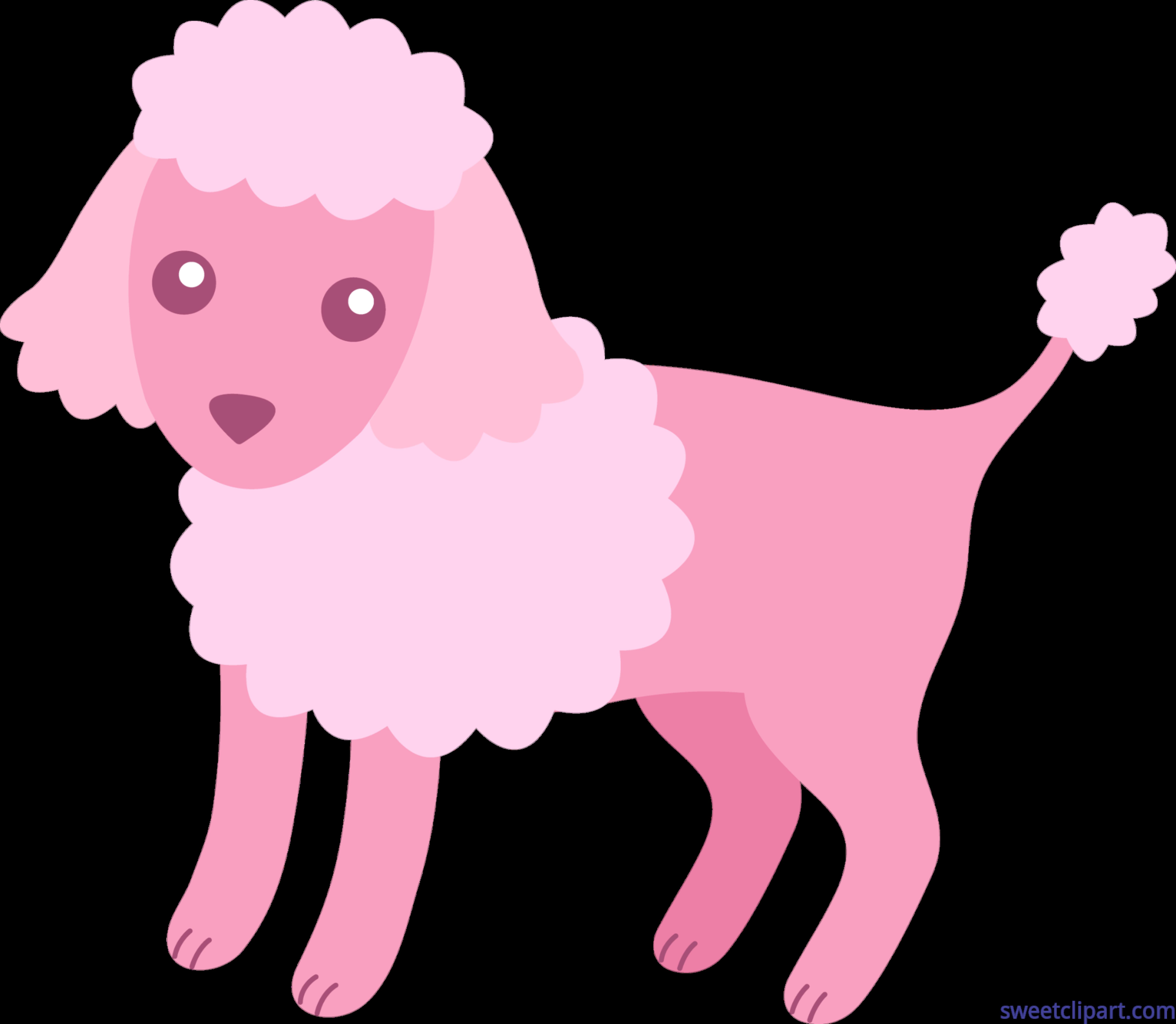 Poodle Pink Clip Art.