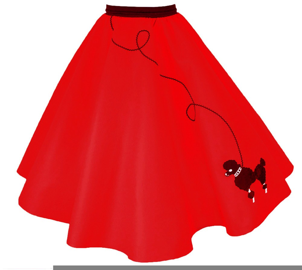 Free Poodle Skirt Clipart.