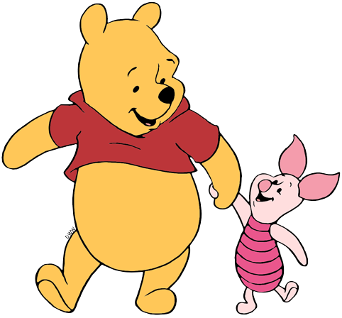 Winnie the Pooh and Piglet Clip Art.