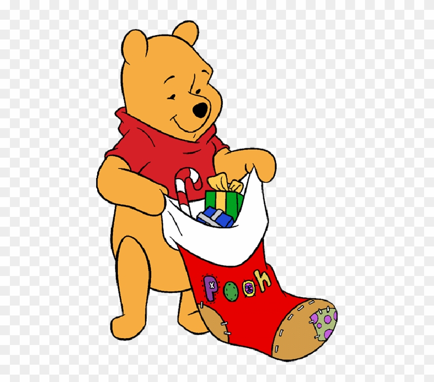 Christmas Winnie The Pooh Stocking Picture.