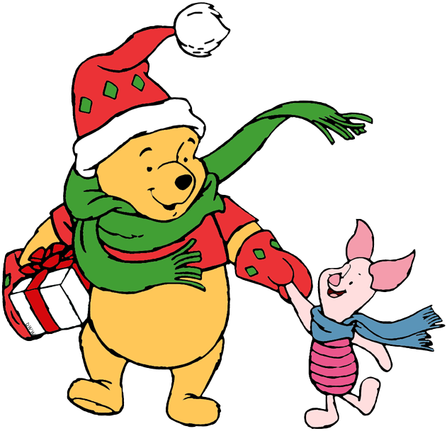 Pooh And Friends Christmas Clip Art.