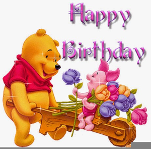 Winnie The Pooh Happy Birthday Clipart.