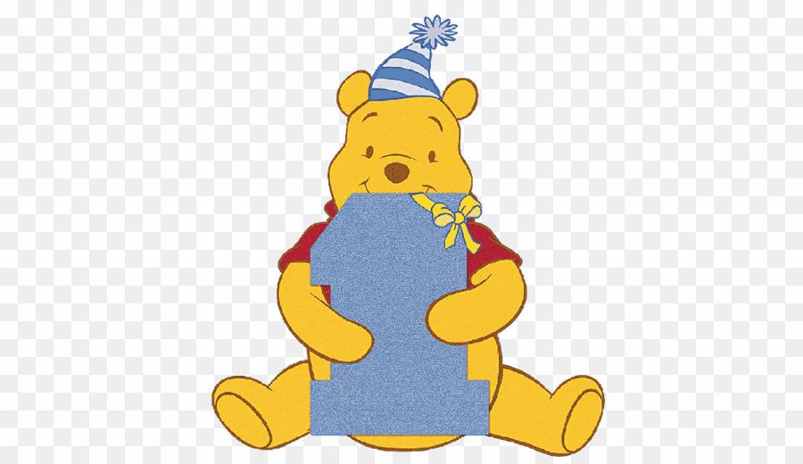 1st Birthday Boy Free PNG Winnie.