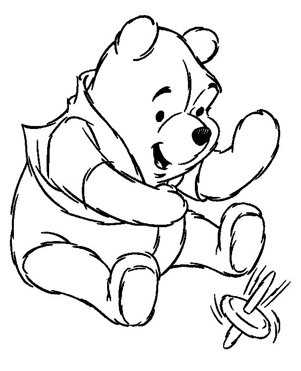 Winnie The Pooh Clipart Black And White.