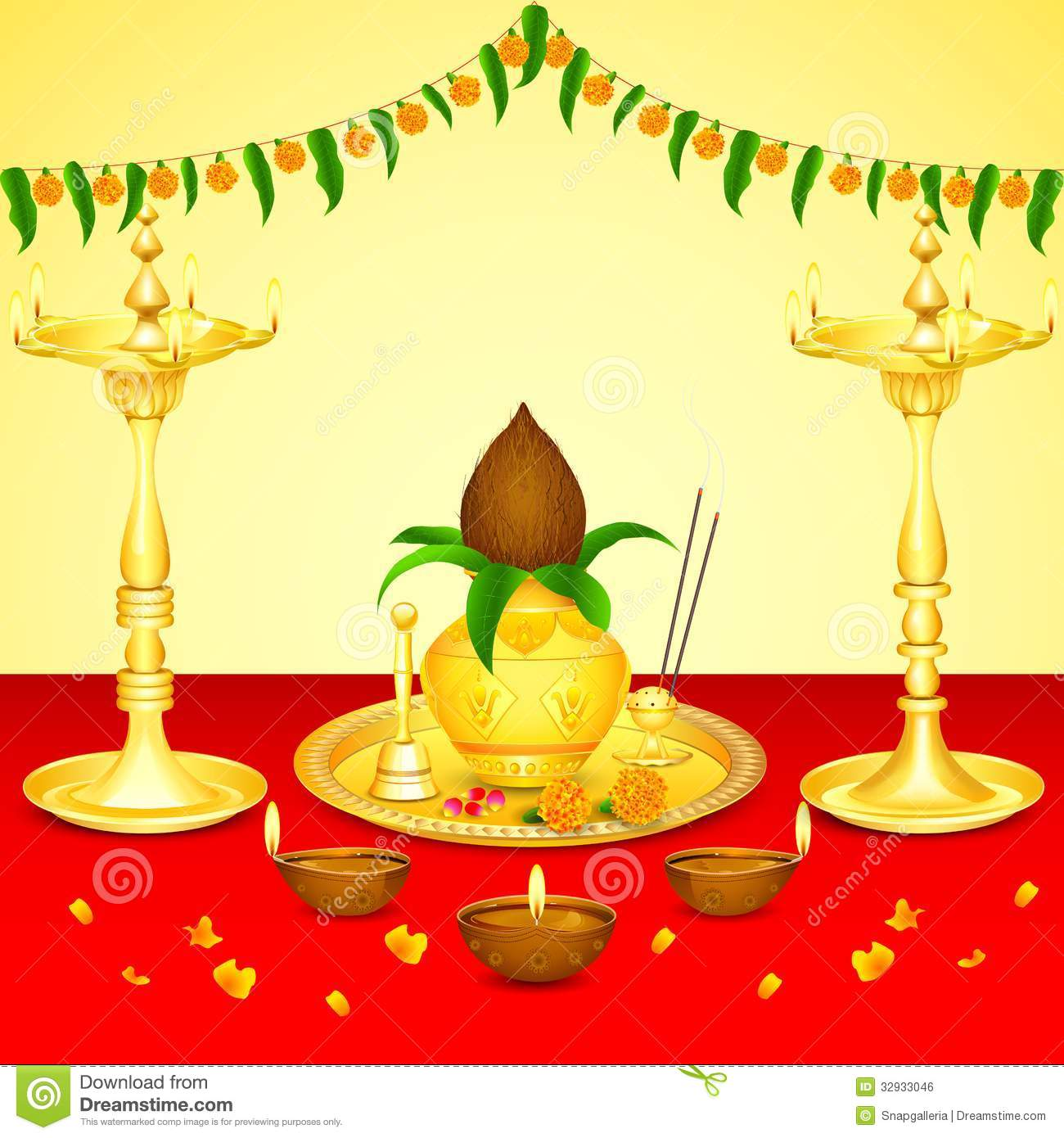 Puja clipart.