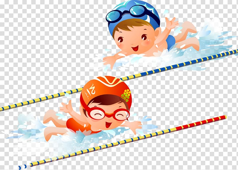 Swimming pool , Children transparent background PNG clipart.