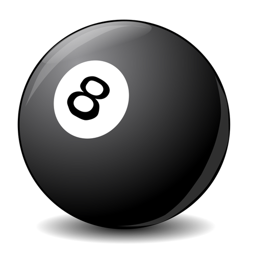 Vector clip art image of pool ball 8.
