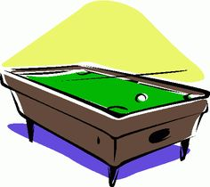 Pool table clipart side view.