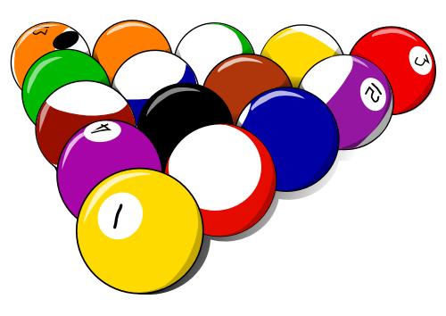 Pool billiards clipart.