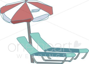 Pool Chairs Clipart.
