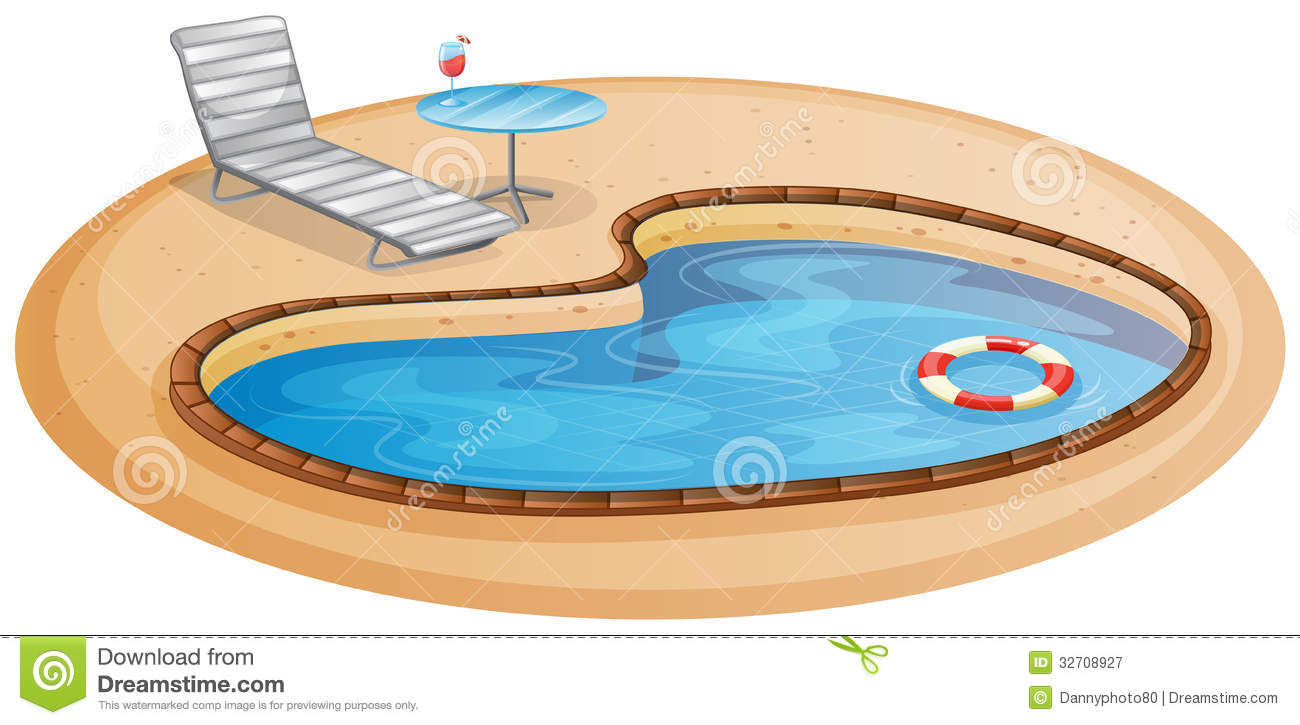 At The Pool Clipart.