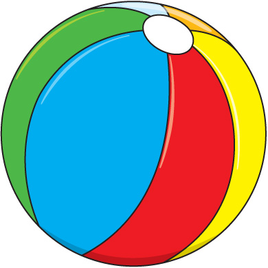 Pool toys clipart.