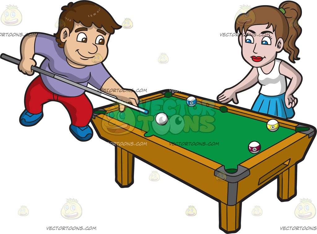Pool Game Clipart.