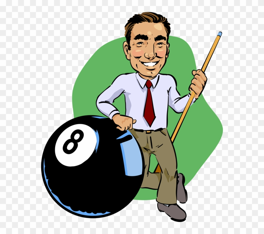 Vector Illustration Of Game Of Pocket Billiards Pool.