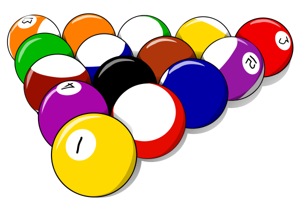 15 pool ball rack.